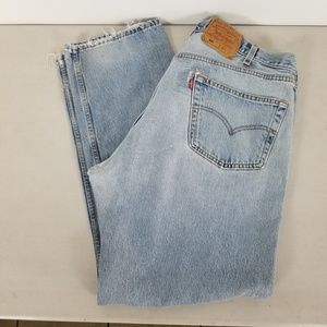 Vintage Levi's Denim Jeans 501 Button Fly 42x32